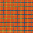 Royalty-Free Stock Photo: A high resolution orange and blue plaid print on fabric for backgrounds