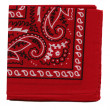 High resolution red bandana or handkerchief fabric for backgrounds — Stock Photo