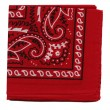 High resolution red bandana or handkerchief fabric for backgrounds - Stock Photo