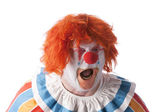 Clowns. Adult male clown yelling — Stock Photo