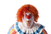 Clowns. Adult male clown with a look of surprise on his face — Stock Photo