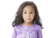 Serious mixed race little girl — Stock Photo