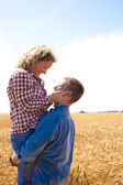 Married couple farmers — Stock Photo