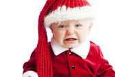 白种人婴儿男孩哭 — 图库照片