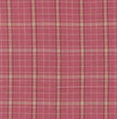 A high resolution bright pink plaid print on fabric for backgrounds — Stock Photo