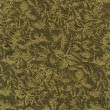 A high resolution neutral green and gold or beige fabric with a floral pattern — Foto de Stock