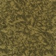 A high resolution neutral green and gold or beige fabric with a floral pattern — Stock Photo