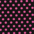 Royalty-Free Stock Photo: A high resolution black fabric with pink polka dots