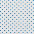 A high resolution white fabric with bright blue polka dots — Foto de Stock