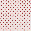A high resolution white fabric with bright red polka dots — Stock Photo #21430399