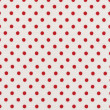 A high resolution white fabric with bright red polka dots — Stock Photo
