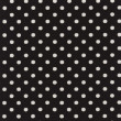 A high resolution black  fabric with white polka dots — ストック写真