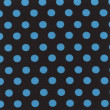 Royalty-Free Stock Photo: A high resolution black  fabric with blue polka dots