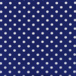 A high resolution blue  fabric with white polka dots — Foto de Stock