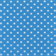 Stock Photo: High resolution blue fabric with white polkdots