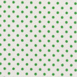 A high resolution white fabric with green polka dots — Stok fotoğraf