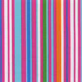 A high resolution vibrant multi-colored fabric with vertical stripes — Stock Photo