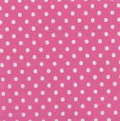 A high resolution pink fabric with white polka dots — Stock Photo