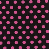 A high resolution black fabric with pink polka dots — Stock Photo