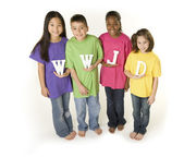 A diverse group of children — Stock Photo