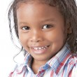 A closeup headshot of a 5 year old mixed race boy — Foto Stock
