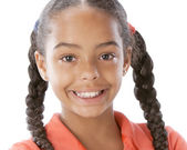 African american smiling little girl — Stock Photo