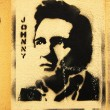 Stencil grafitti Johnny Cash — 图库照片