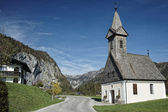 Austria / Salzkammergut / Little church in mountainside — Stock Photo