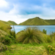 Mojanda lagoon in Ecuador - Stock Photo