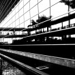 Business center in bw with high contrast — Stock Photo
