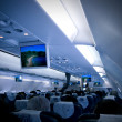 Stock Photo: Airplane interior