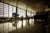 At airport interior — Stock Photo