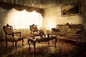 Old style living room — Stock Photo