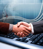 E-commerce hand shake — Stock Photo