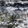 Stock Photo: Dramatic city