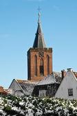 Oude kerk in een winterdag, nederland — Stockfoto