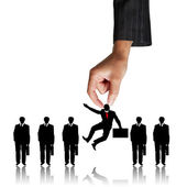 Human Resources concept: choosing the perfect candidate for the — Stock Photo