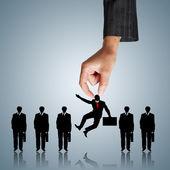 Concept de ressources humaines: le choix du candidat idéal pour le — Photo