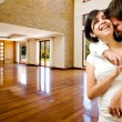 Stock Photo: Young happly couple at their new house