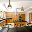 Interior design series: Big new kitchen - Stock Photo