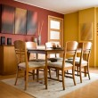 Interior design series: modern colorful dining room — Stock Photo