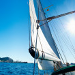 Freedom: Sailing boat in the sea — Stock Photo
