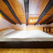 Interior Design: Modern Bedroom at attic — Stock Photo