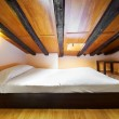 Stock Photo: Interior Design: Modern Bedroom at attic