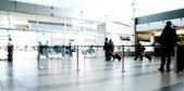 Seyahat hareketli havaalanı — Stok fotoğraf