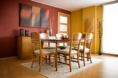 Interior design series: modern colorful dining room — Foto Stock