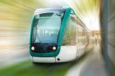High speed train motion blur — Stock Photo
