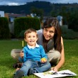 Mother and son playing — Stock Photo