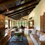Interior design series: classic rustic living room — Stock Photo