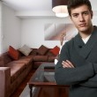 Successful business man at his new modern house — Stock Photo #19407589